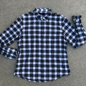 John Varvatos Designer Lightweight Plaid Shirt XXL